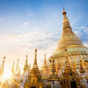 Shwedagon pagoda Myanmar cruise and beach