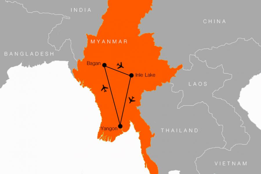 7 Day Highlights of Myanmar