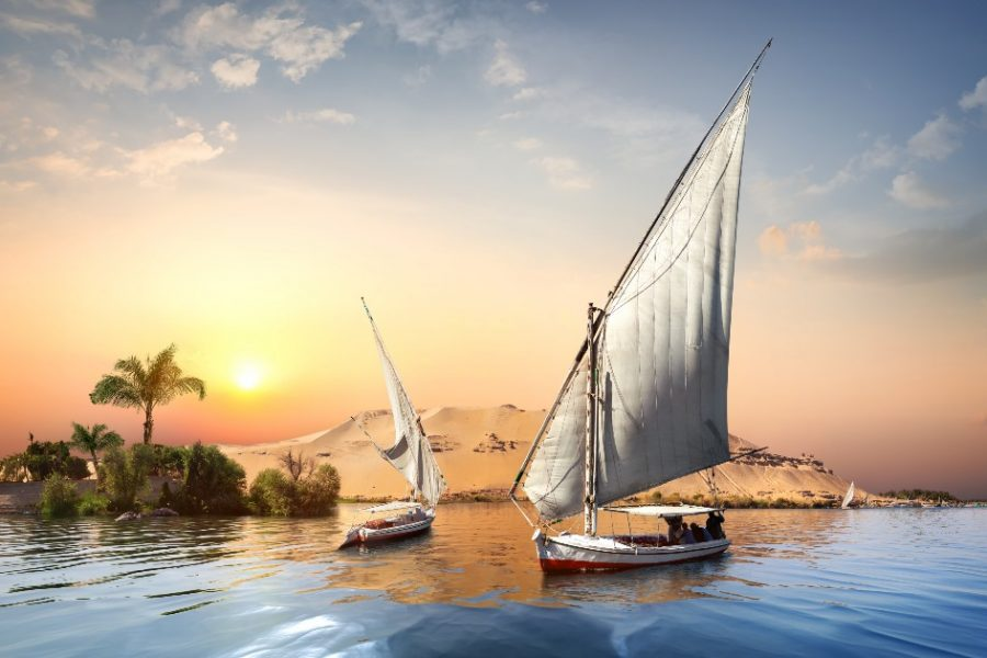 River-Nile-and-boats-at-sunset-in-Aswan_edited