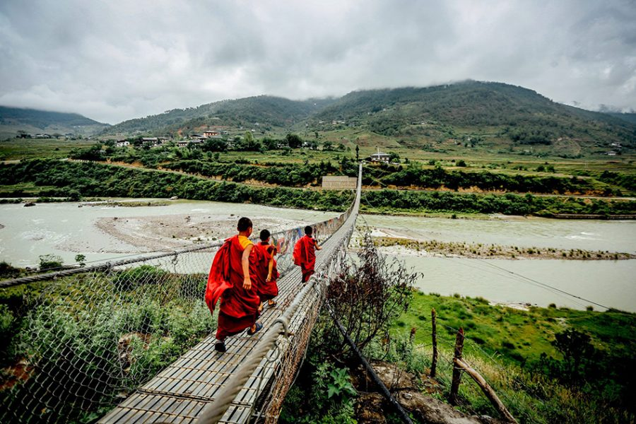 bhutan monks. bhutan travel package